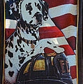 Dalmatian The Firefighters Mascot Poster by Paul Ward