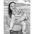 Dana and Brody at the beach Print by Jack Pumphrey