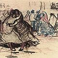 Dance Hall with Dancing Women Poster by Vincent Van Gogh
