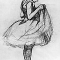 Dancer Adjusting her Costume and Hitching up Her Skirt Poster by Henri de Toulouse-Lautrec