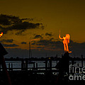 Dancing Flames Print by Rene Triay Photography