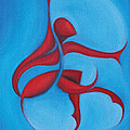 Dancing Sprite in Red and Turquoise Print by Tiffany Davis-Rustam