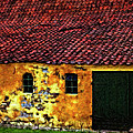 Danish Barn impasto version Print by Steve Harrington