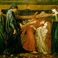 Dantes Dream at the Time of the Death of Beatrice 1856 Print by Dante Gabriel Rossetti