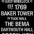 Dartmouth College Town Wall Art Poster by Replay Photos
