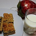 Date Squares - Snack - Dessert - Milk Poster by Barbara Griffin