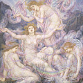 Daughters of the Mist Poster by Evelyn De Morgan