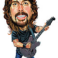 Dave Grohl Print by Art