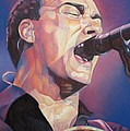 Dave Matthews Colorful Full Band Series Print by Joshua Morton
