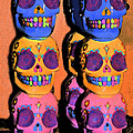 DAY OF THE DEAD Ink Poster by PAMELA Smale Williams