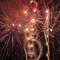 Dazzling Fireworks Print by Garry Gay