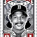 DCLA Jim Rice Fenway's Finest Stamp Art Print by DCLA Los Angeles