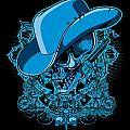 DCLA Skull Cowboy Cold Dead Hand 2 Print by DCLA