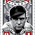 DCLA Tris Speaker Fenway's Finest Stamp Art Print by David Cook Los Angeles