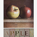 deco apples Poster by Priska Wettstein