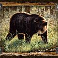 Deco Black Bear Poster by JQ Licensing