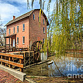 Deep River County Park Grist Mill Print by Paul Velgos
