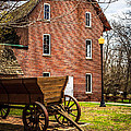 Deep River Wood's Grist Mill and Wagon Print by Paul Velgos