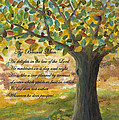 Deep Roots-with Scripture Poster by Mona Elliott