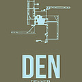 DEN Denver Airport Poster 3 Poster by Irina  March