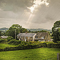 Derbyshire Cottages Print by Christopher and Amanda Elwell