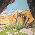 Desert View from the Cave Print by Esther Newman-Cohen