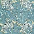 Design in Turquoise Print by William Morris