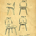 Designs for a Eames chair Print by Edward Fielding