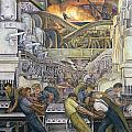 Detroit Industry  North Wall Print by Diego Rivera