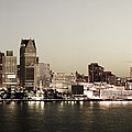 Detroit Skyline at Night Print by Levin Rodriguez