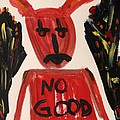 devil with NO GOOD tee shirt Poster by Mary Carol Williams
