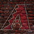 Diamondbacks Baseball Graffiti on Brick  Print by Movie Poster Prints