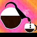 Diner Coffee Pot And Cup Sorbet Pouring Poster by Andee Design