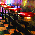 Diner - v2 Print by Wingsdomain Art and Photography