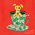 Dinnerware sets puppy in a teacup Print by Budi Satria Kwan