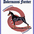 Dobermanns Forever - The Next One Hundred Years Poster by Rita Kay Adams