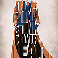 Doctor Who Inspired Tenth Doctor's Typographic Artwork by Ayse Deniz