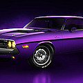 Dodge Challenger Hemi - Shadow Print by Marc Orphanos