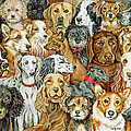 Dog Spread Print by Ditz