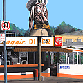 Doggie Diner 1986 Poster by Wingsdomain Art and Photography