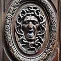 Door in Paris Medusa Print by A Morddel