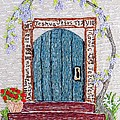 Door with many languages Poster by Stephanie Callsen