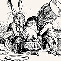 Dormouse in the Teapot Mad Tea Party Poster by John Tenniel