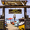 Dory Fishing Fleet Market Newport Beach California Poster by Paul Velgos
