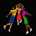 Double Teamed Print by Walter Oliver Neal