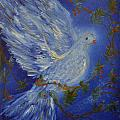 Dove Spirit of Peace Poster by Louise Burkhardt