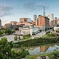 Downtown Houston from UH-D. September Print by Silvio Ligutti