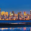 Downtown Vancouver from Spanish Banks Beach Print by Alexis Birkill