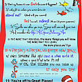 Dr Seuss - Quotes to Change Your Life Poster by Georgia Fowler