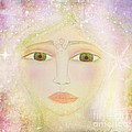Dreams of Avalon Tipple Goddess Guinevere  Print by Sacred  Muse